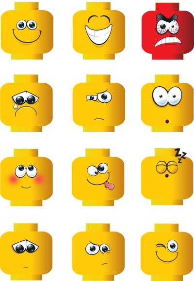 LEGO emoticons_a4